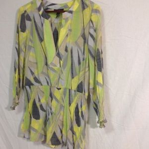 Alfani green blouse size 10